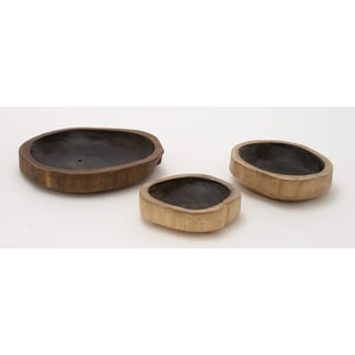 Teak Wood Bowl 8/ 9/ 12-inch wide (Set Of 3)