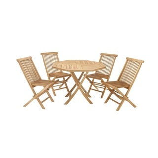Teak Wood Dining 42-inch wide x 30-inch high (Set of 5)
