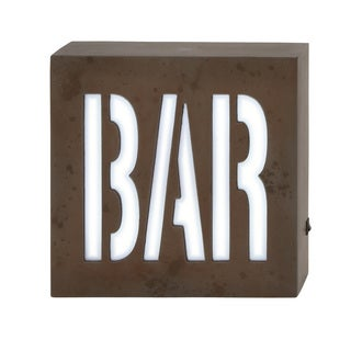 Wood LED Wall Bar Sign 10-inch wide x 10-inch high