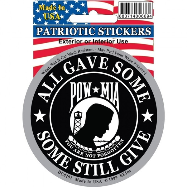 POW MIA Car Decal