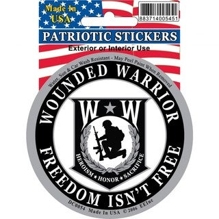 Wounded Warrior Car Decal