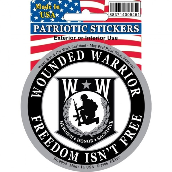 Wounded Warrior Car Decal Free Shipping On Orders Over