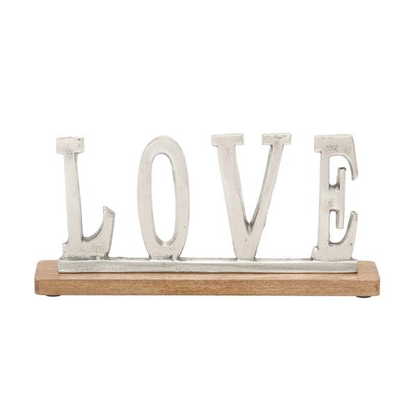 Metal Wood Love 14-inch wide x 6-inch high