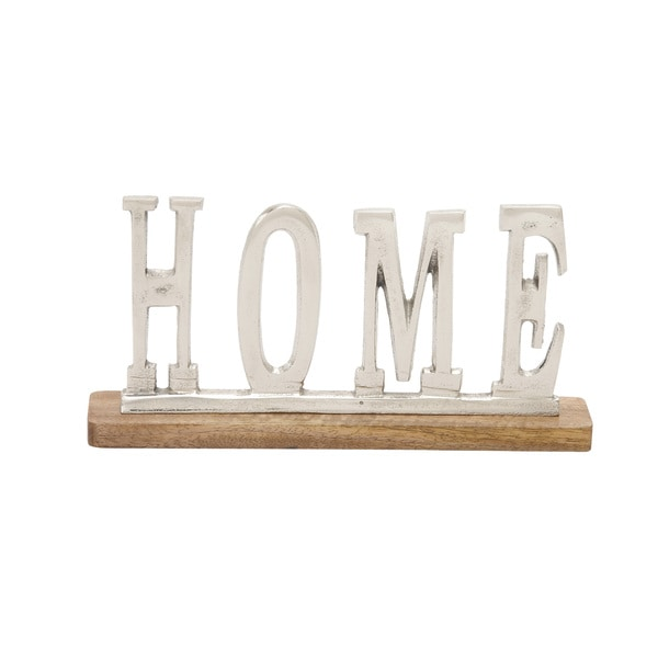 Metal Wood Home 13-inch wide x 6-inch high