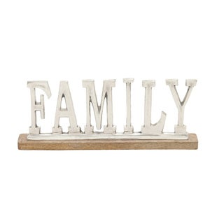 Porch & Den Norwalk Metal Wood Family Sign