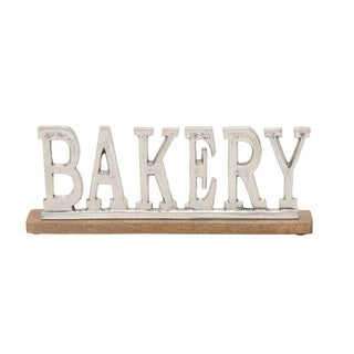 Metal Wood Bakery 16-inch wide x 6-inch high