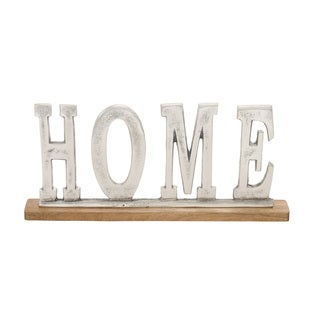 Metal Wood Home 18-inch wide x 8-inch high