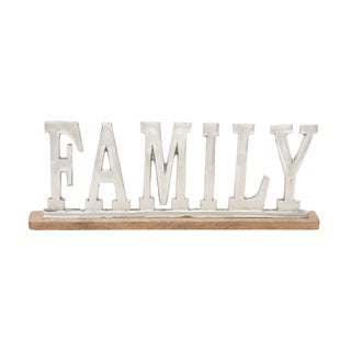 Metal Wood Family 22-inch wide x 8-inch high