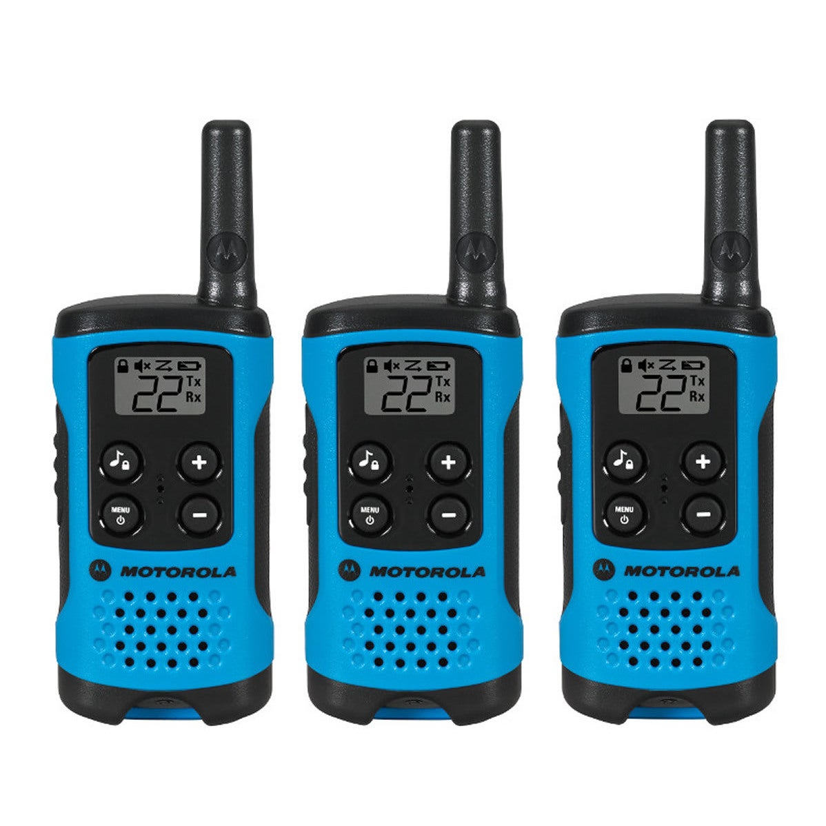 Motorola TalkAbout T100 Radios (Set of Three), Blue #T100TP