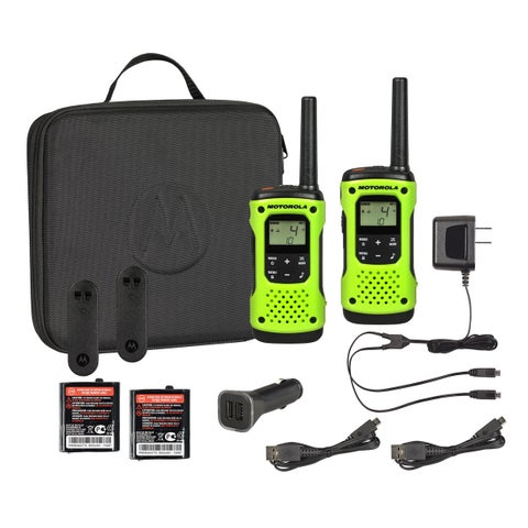 T605 H2O Rechargeable Floating 2-Way Radio Twin Pack with Case and Car Charger