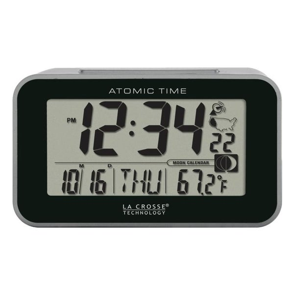 La Crosse Technology 617-1270 Atomic Digital Alarm with Temperature. Opens flyout.