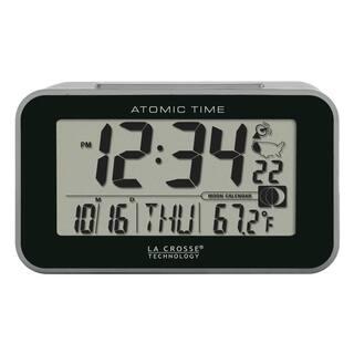 La Crosse Technology 617-1270 Atomic Digital Alarm Clock with Temp/Moon, Black|https://ak1.ostkcdn.com/images/products/11671345/P18599708.jpg?impolicy=medium