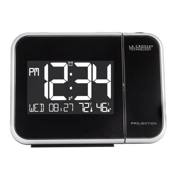 La Crosse Technology 616-1412 Projection Alarm Clock with Indoor Temperature & Humidity