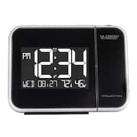 La Crosse Technology 616-1412 Projection Alarm Clock with Indoor Temperature & Humidity