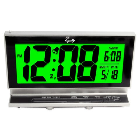 Equity by La Crosse 30041 Large LCD Night Vision Alarm Clock