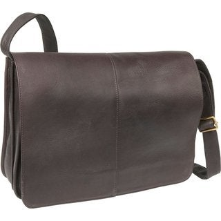 LeDonne Leather Quick Access Messenger Bag