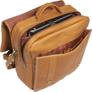 LeDonne Leather Convertible 15.4-inch Laptop Backpack/Briefcase