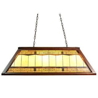 Kring 4-light Amber 46-inch Tiffany-style Island Ceiling Lamp