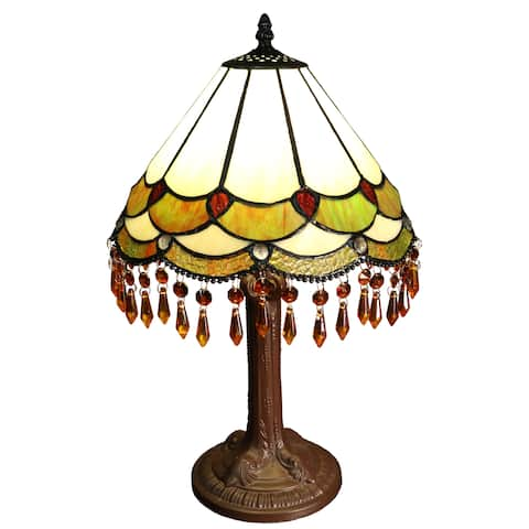 Nenenita 1-light Bohemian 12-inch Tiffany-style Table Lamp