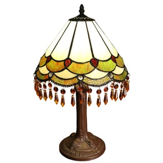 Nenenita 1-light Bohemian 12-inch Tiffany-style Table Lamp