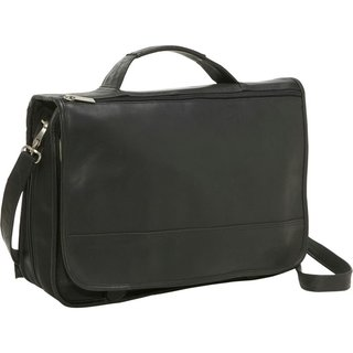 LeDonne Leather Expandable Organizer Messenger Brief