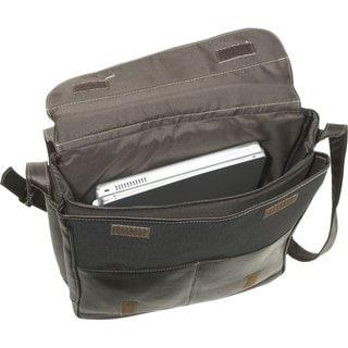 LeDonne Leather Vertical 17-inch Laptop Messenger Bag