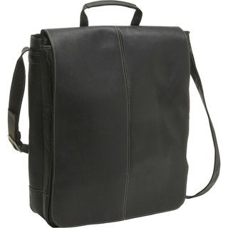 LeDonne Leather Vertical 17-inch Laptop Messenger Bag
