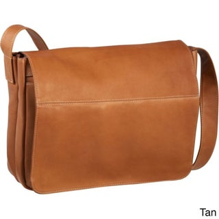 LeDonne Leather Full Flap 15-inch Laptop Messenger Bag (Option: Beige)