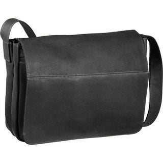 LeDonne Leather Full Flap 15-inch Laptop Messenger Bag