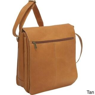 LeDonne Leather North/South 12-inch Laptop Messenger Bag