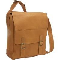 LeDonne Leather Vertical Buckle 15-inch Laptop Messenger Bag