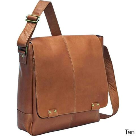 LeDonne Leather Rivet 15-inch Laptop Messenger Bag
