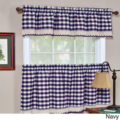 Achim Buffalo Checkered 2-piece Tier Curtain Set