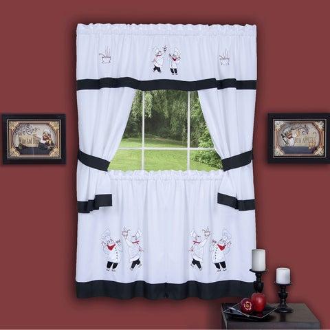 Achim Gourmet Window Curtain Cottage Set