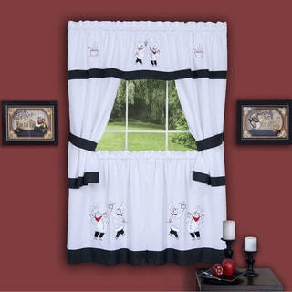 Gourmet Embellished Cottage Curtain Set