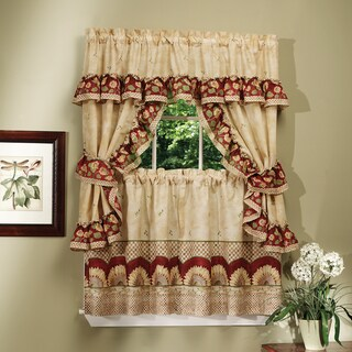 Achim Sunflower Printed Cottage Tier Curtain Set