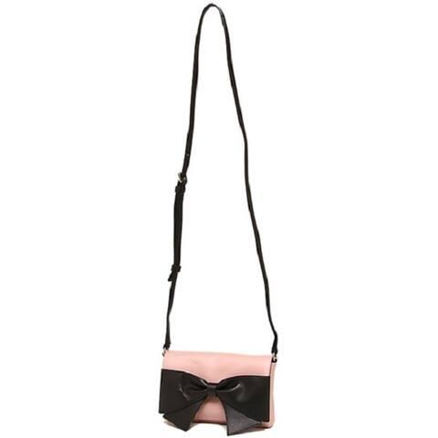 Kate Spade New York Hanover Street Aster Pink with Black Bow Crossbody Handbag
