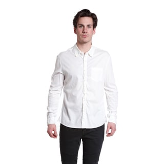 Excelled Men's Clean Cut White Button Down Woven