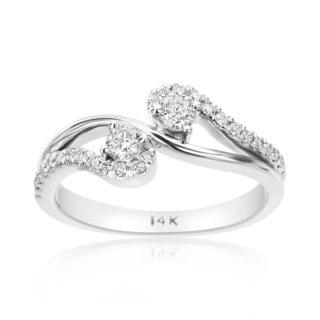 SummerRose 14k White Gold 2/5ct TDW Diamond Forever 2 Ring