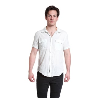 Excelled Men's Lightweight Cotton Linen Button Down