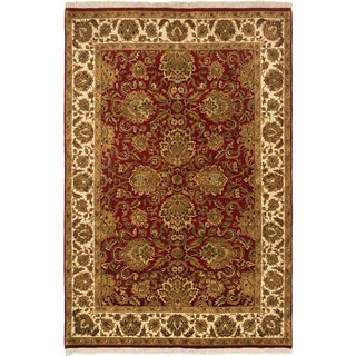 Ecarpetgallery Sultanabad Dark Copper/ Light Brown Wool Open Field Rug (5'11 x 8'11)