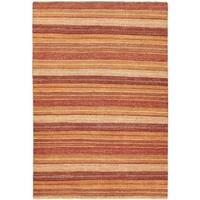 ecarpetgallery Finest Ziegler Chobi Orange Wool Rug (6'5 x 9'4) - 6'5 x 9'4