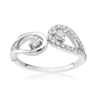 SummerRose 14k White Gold 1/2ct TDW Diamond Forever 2 Ring