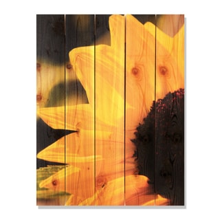 Yellow Sunflower -28x36 Indoor/Outdoor Full Color Cedar Wall Art