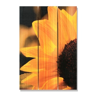 Yellow Sunflower -16x24 Indoor/Outdoor Full Color Cedar Wall Art