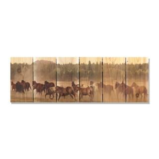 Wild Horses -32x11 Indoor/Outdoor Full Color Cedar Wall Art