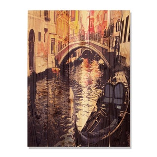 Venetian Gondola -28x36 Indoor/Outdoor Full Color Cedar Wall Art