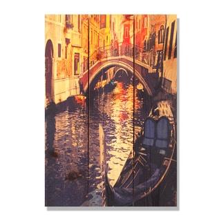 Venetian Gondola-16x24 Indoor/Outdoor Full Color Cedar Wall Art