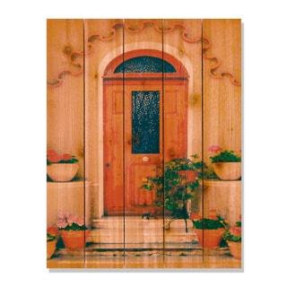 Tile Door -28x36 Indoor/Outdoor Full Color Cedar Wall Art