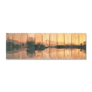 Still Lake -62x20 Indoor/Outdoor Full Color Cedar Wall Art